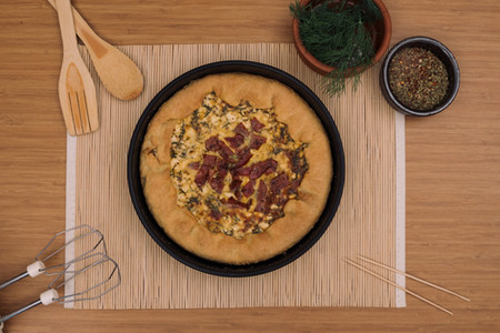 Panne Kalın Yuvarlak Pizza Kalıbı
