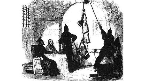 Strappado torture device, history