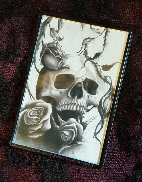 Skull With Roses Fridge Magnet