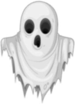 a cartoon ghost