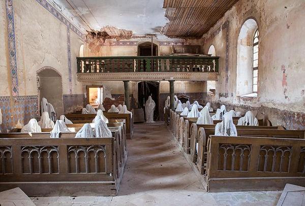 a church looks haunted