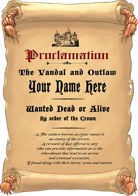 Personalised Wanted Poster!
