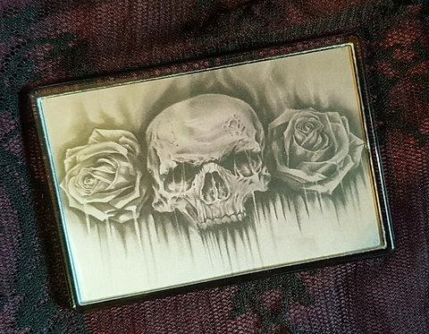 Skull n Roses Fridge Magnet