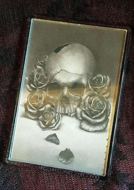 Skull & Roses Fridge Magnet