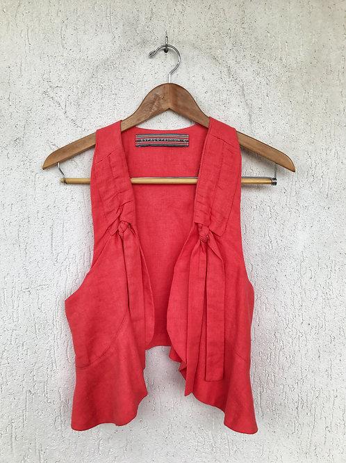 Colete Rosa Laço Espaço Fashion