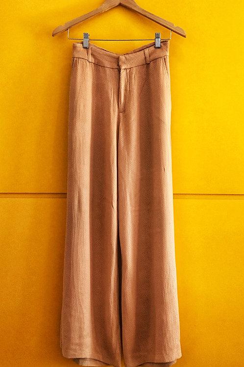 Calça Pantalona Nude Textura Ágatha