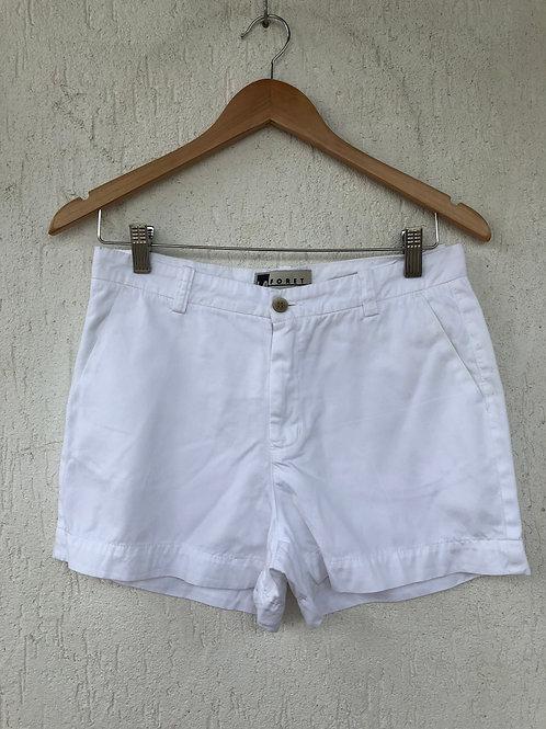 Short Branco Bolso Faca