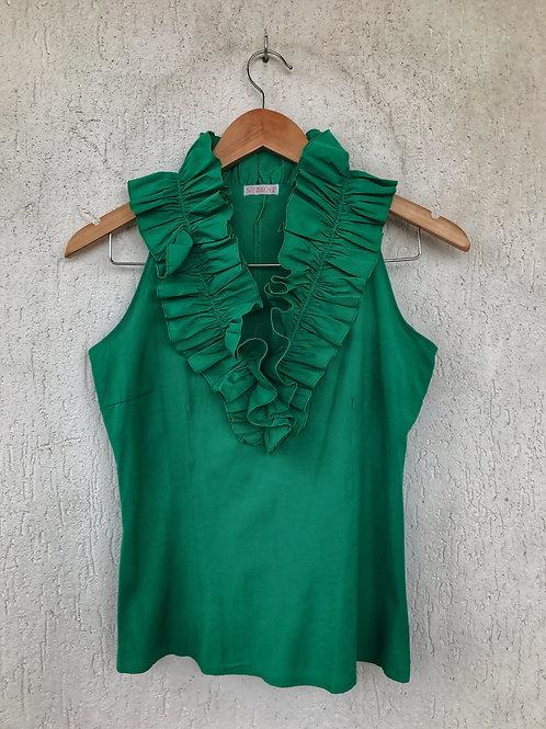 Blusa Babados Verde