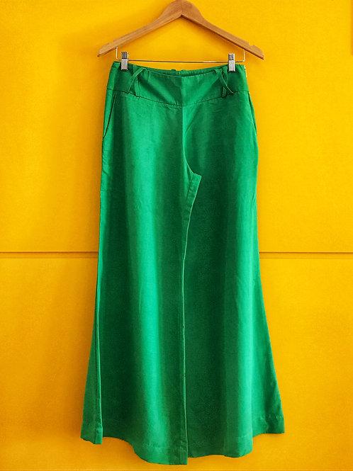 Calça Pantalona Verde Bandeira