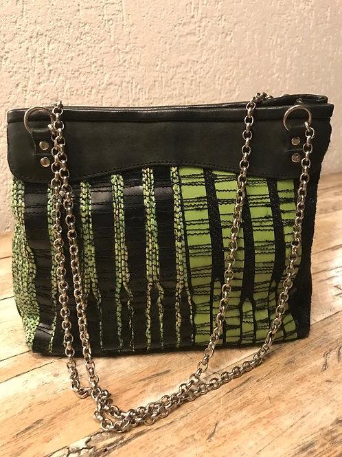 Bolsa Pequena Verde e Preta Correntes