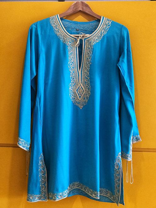 Blusa India Azul Piscina