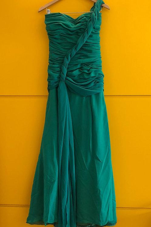 Vestido Longo Verde Grega