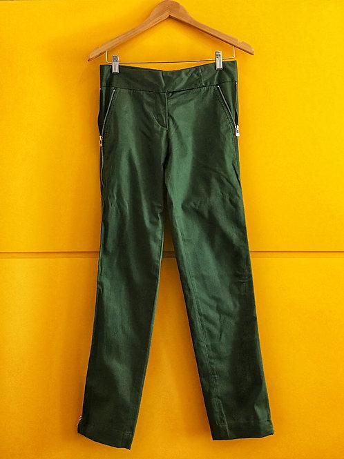 Calça Verde Militar Ziper Lateral