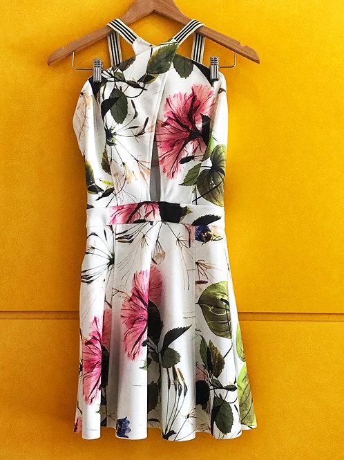 Vestido Fenda Floral Espaço Fashion