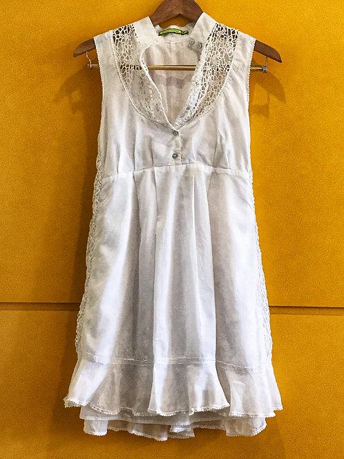 Vestido Branco Laço Renda Espaço Fashion