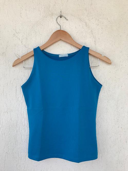 Blusa Azul Malha
