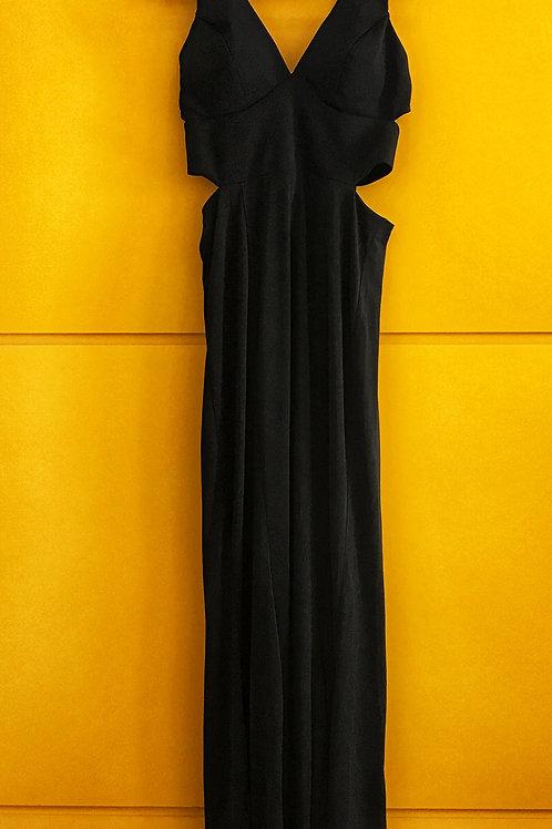Vestido Longo Preto Cropped Importado