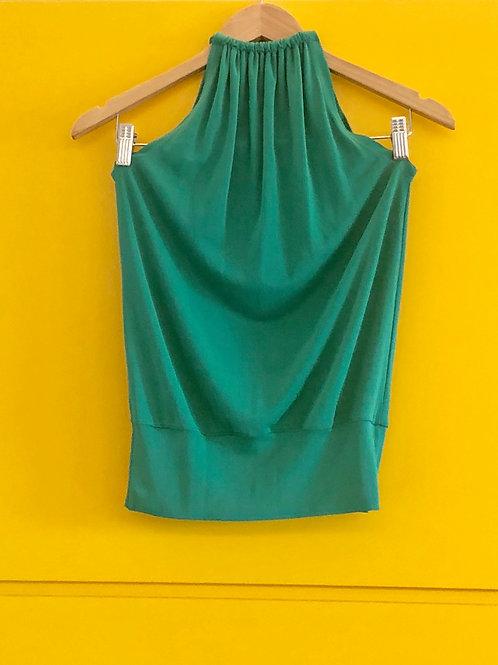 Blusa Verde Decote Costas