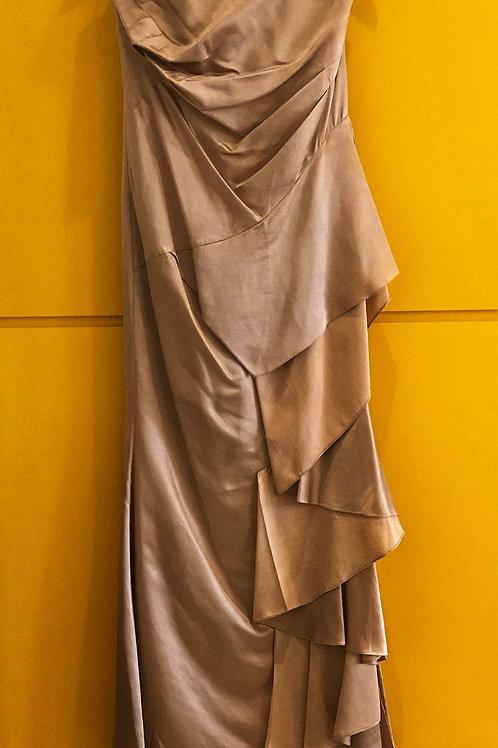 Vestido Longo Nude Babado Tempo4