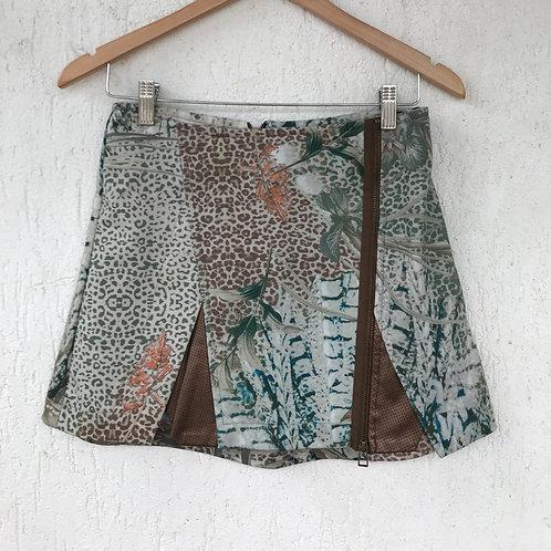 Saia Animal Print Espaço Fashion