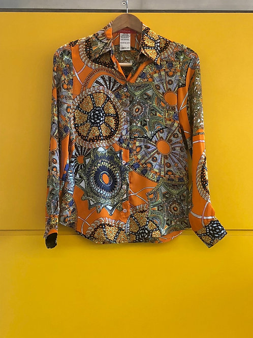 Camisa Estampada Seda Pura
