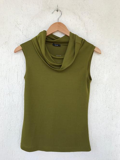 Blusa Gola Ombro a Ombro Verde Musgo