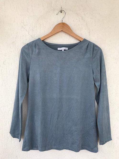 Blusa Camurça Azul Claro