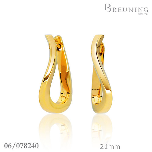 14k Yellow Gold Wave Hoops