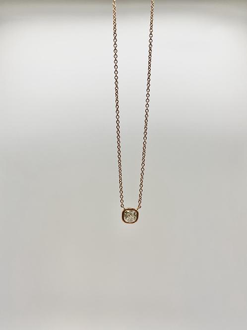 14k Rose Gold Bezel Set Diamond Necklace