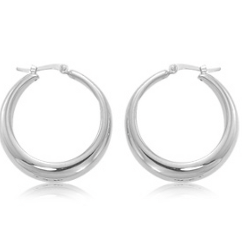 Sterling Silver Sm Round Hoops