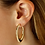 Thumbnail: 14k Yellow Gold Med Oval Flat Hoops