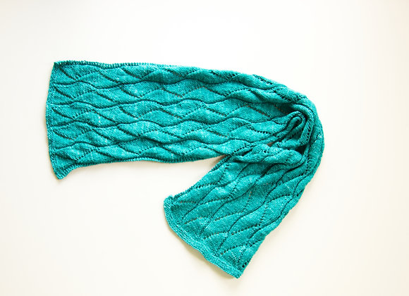 Hand Dyed Teal Cotton Scarf