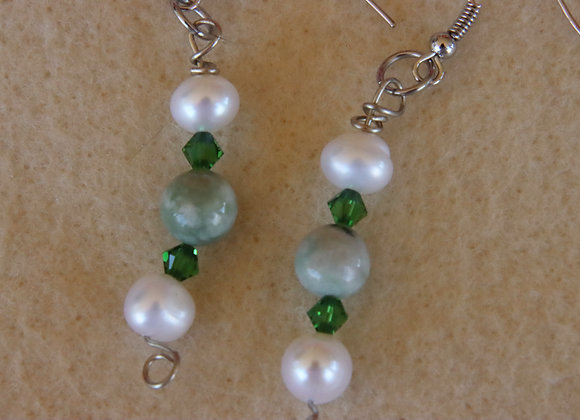 Peace and Pearl Earrings