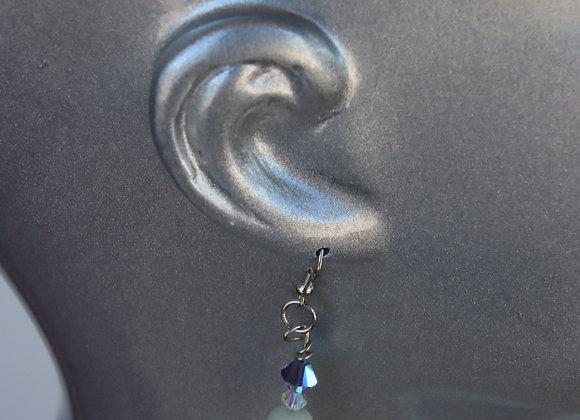Peace Jade and Swarovski Crystal Earrings