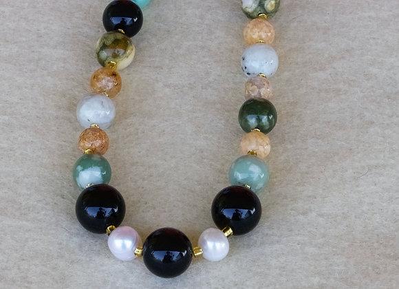 Obsidian & Peace Jade