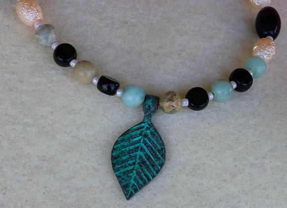 Copper Leaf Pendant