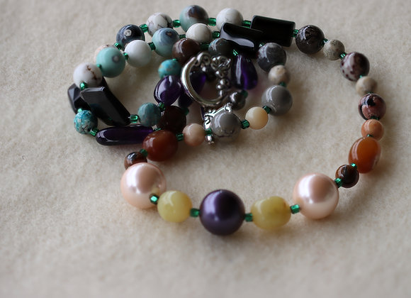 "Three Pearls Necklace 20"" Long"