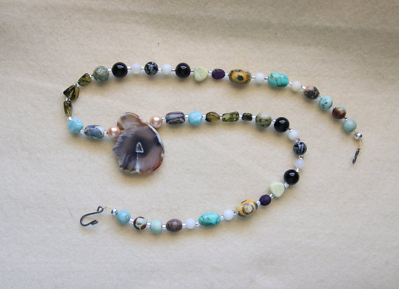 "20"" Slice of Agate Necklace"