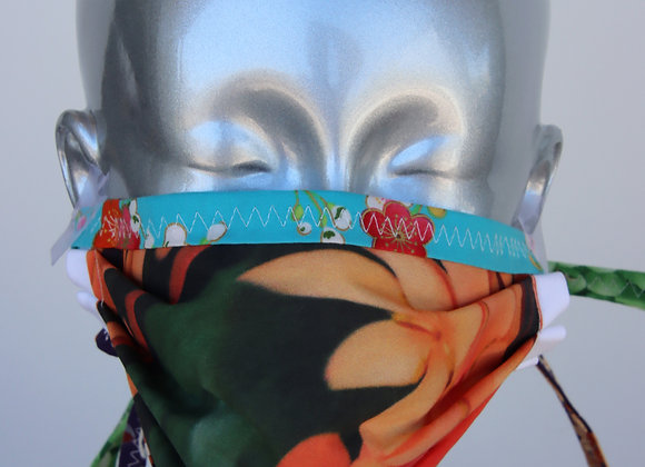 Hand Made Reversible Mask with Ties