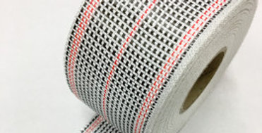 CARBON / EGLASS HYBRID WOVEN TAPE 175g/m2 75mm RED TRACER