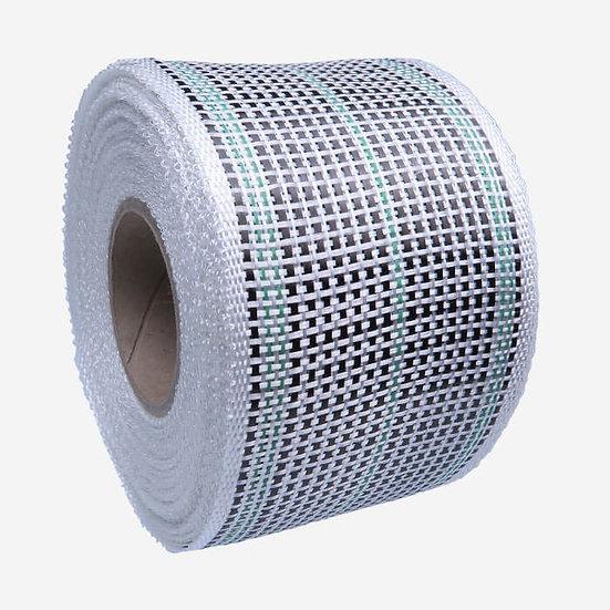 Tessuto rinforzo Hybrido Fibra di vetro e carbonio - larghezza 80 mm