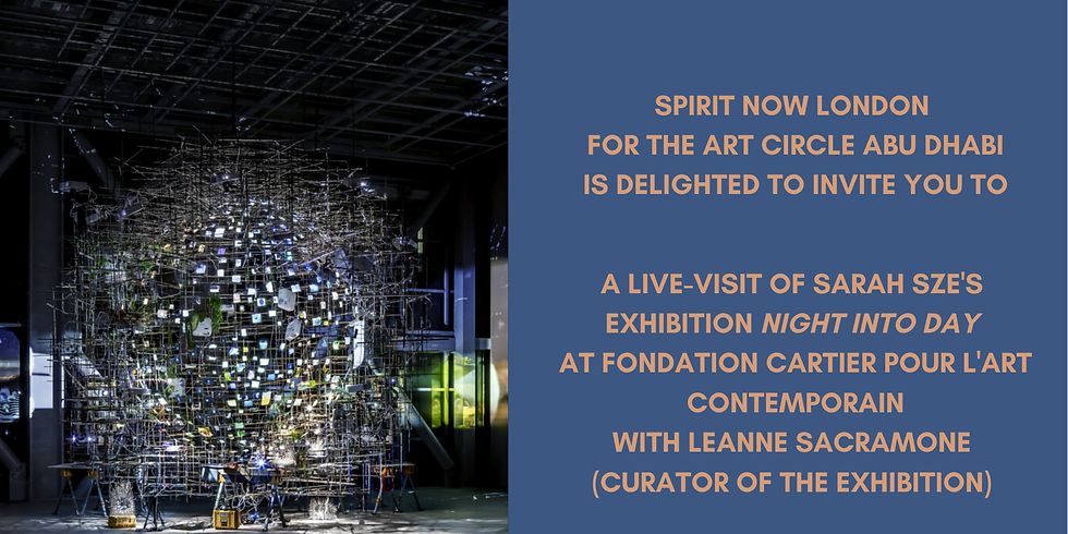 Members Only: Live-Visit with Spirit Now London of Sarah Sze's Exhibition Night Into Day at Fondation Cartier