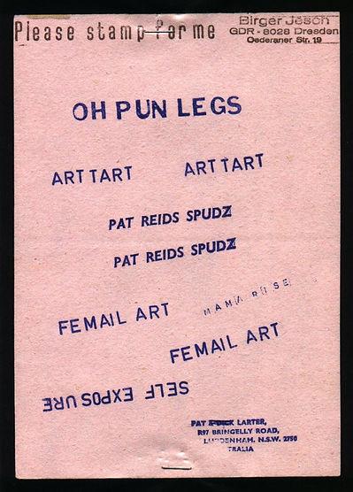 Pat Larter Rubber Stamp