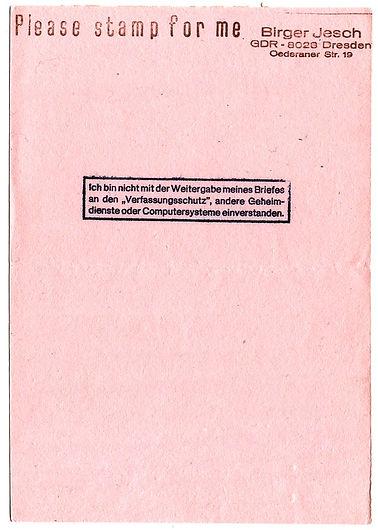 please stamp for me + Dietrich KIttner
