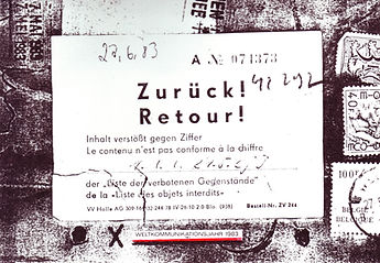 ddr mail art zensur
