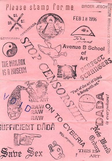 please stamp for me + John Evans- Mail Art