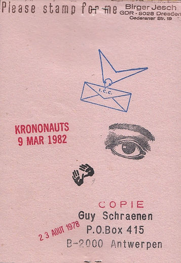 guy schraenen- mail art