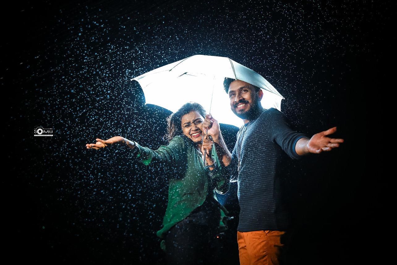 Couples in Rain