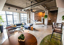 uptown dallas condo contemporary concrete floors