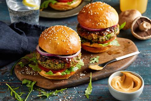 Portabello mushroom burgers